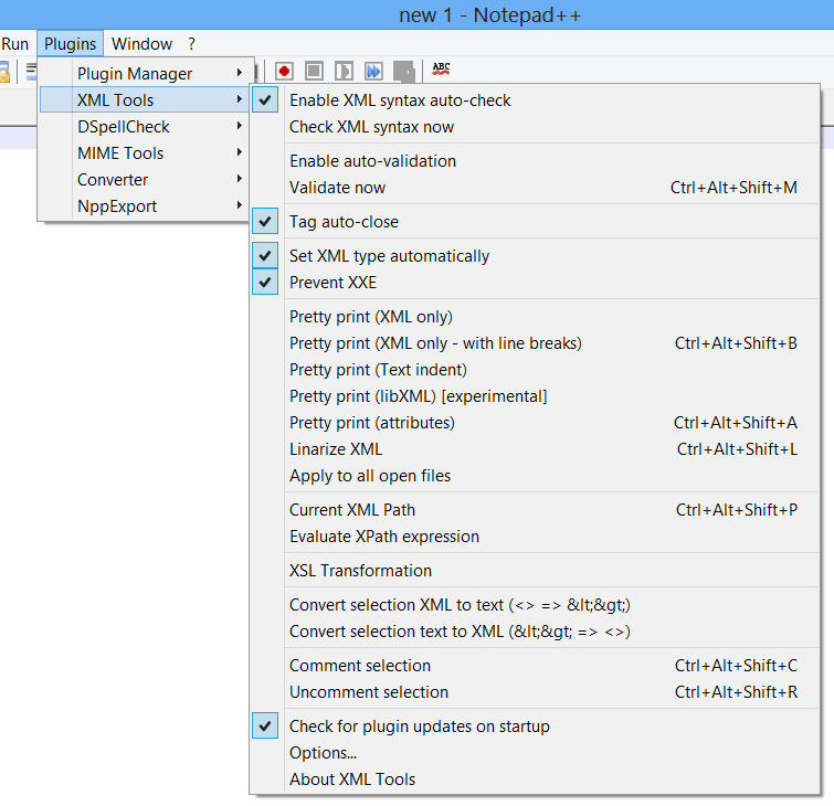 XML Tools Plugin for Notepad++ - Features, download and how