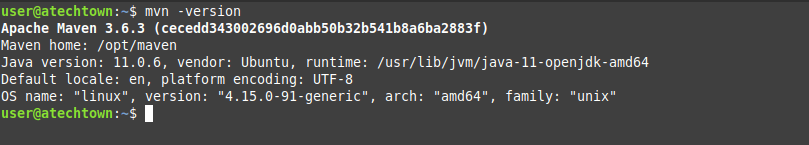 Apache Maven is installed